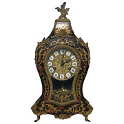 Large Fine Louis Xvi Style Gilt Ormolu Marquetry Boulle Mantle 8 Day Clock