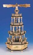 Christmas Pyramid With Musical Mechanism Natural Figures Natural/4 Etg. High Ca