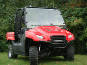 2009-2013 Honda Big Red Lexan Windshield With Quick Install Straps And Dual Vents