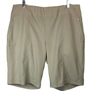 Zenergy Golf By Chicoand039s Size 2.5 Golf Shorts In Tan