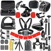 Orbmart For Gopro Accessories Set For Go Pro Hero 9 8 7 6 5 4 Black Mount For Yi