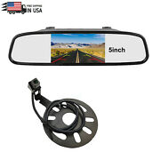 Spare Tire Backup Camera 5''rear View Mirror Monitor With Clip For Jeep Wrangler