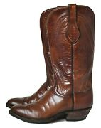 Vintage Cowboy Western Boots Womens 8.5 Leather Cats Paw Heel Brown Gorgeous