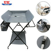 Baby Changing Station Foldable Unit Steel Pipe Oxford Cloth Table Changer Bed Uk