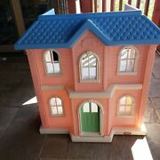 Vintage Little Tikes 3 Ft Tall Barbie Dollhouse Doll House Child Girl Size Pink
