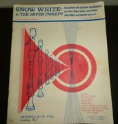 Snow White And The Seven Dwarfs - Music Book For Descant Recorders Or Flute Oboe