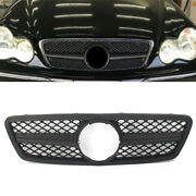 Amg Style Matte Black Front Grille Grill For Mercedes Benz C Class W203 2001-06