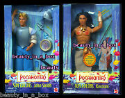 Kocoum And John Smith Disney Doll From Pocahontas Sun Colors Lot 2 Nrfb