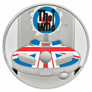 2021 Great Britain Legends The Who 1 Oz Silver Colorized Proof Andpound2 Coin