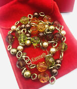 Kjl Kenneth Jay Lane Chunky Beaded Necklace Orig Box Lucite Vintage Jewelry