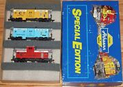 Athearn 2324 Special Edition Safety Caboose Of The Chessie System 3-pack Built