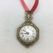 Antique Victorian Gilded Age And Co 14 Karat Pendant Watch 1880s