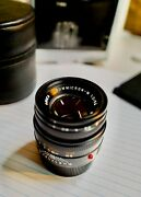 Leica Summicron-m 50mm F/2 Lensblack 11826 Made In Germany