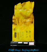 14 Old Chinese Tianhuang Shoushan Stone Mountain Landscape People Seal Statue