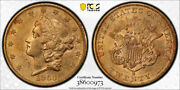 1860 S 20 Liberty Head Double Eagle Gold Pcgs Au 58 About Uncirculated Nice