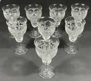 Mckee Glass Rock Crystal Water Goblet Clear 6 5/8 T Capacity 8 Oz Ca 1915-44