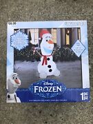 Disney Frozen Olaf Airblown Holiday Christmas Inflatable 6ft Tall Lights Led