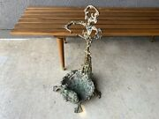 Hunting Dog Fireplace Tools Brass Mid Century Modern Antique Eames Era
