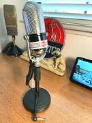 1960and039s Calrad Pill Microphone - Upgraded Sound W/stand Included Rca Styling