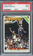 1975 Topps Moses Malone Hof Rookie Rc 254 Psa 9 Mint