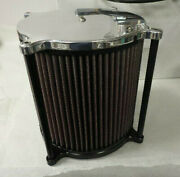Billet Kandn Air Filter For 4150 Style Carb 8-1/2 Tall Super Nice For Sprint