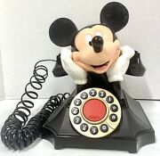 Vintage Disney Mickey Mouse Telemania Rotary Desk Phone Telephone Working