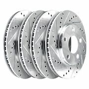 For 2010-2013 Land Rover Range Rover Sport Hart Brakes Front Rear Silver Zinc