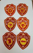 Vintage Lot Of 6 Usmc Fmf Pac Patches Marine Corps Balloon Commo Armored
