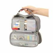 Easthill Big Capacity Pencil Case Stationery Storage Large Handheld Pen Pouch...