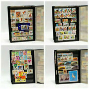 Postage Stamps Worldwide Collecting Old Album Lot 400 Pcs Vintage