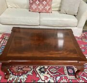 Ethan Allen Coffee Table With Inlay