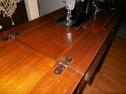 Vintage Singer Sewing Machine 201 And Art Deco Cabinet
