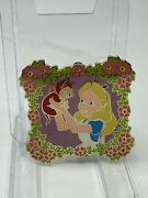 Disney Auctions Alice In Wonderland And Dinah Cat Floral Frame Le 1000 Pin