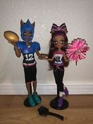 Monster High Winning Werewolves Clawdeen And Clawd Wolf Rare Htf W/doll Stands