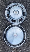 1967 1968 And 1974 1975 Cadillac Eldorado Hubcap Wheel Cover Set 2 Stainless Steel