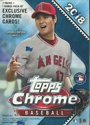 2018 Topps Chrome Baseball Blaster Box - New Sealed From A Sealed Case Acuna