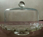 Princess House Vintage Crystal Pedestal Cake Plate And Dome Cover Heritage 045