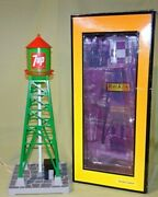 Mth 30-9029 7 Up Green 193 Industrial Water Tower W/beacon Wks/ Lionel 2008