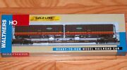 Walthers 932-41056 Gold Line Flexi-van Flat Car W/ Trailers Illinois Central Ic