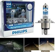 Philips Racing Vision Gt200 9003 Hb2 H4 60/55w Two Bulbs Headlight Replace Stock