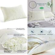 Shredded Memory Foam Pillow With Bamboo Cover Coop Home Goods Queen Size