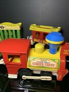 Vintage 1973 Fisher Price Little People Circus Animal Train 991 Pull Toy
