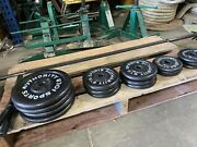 Sports Authority Weight Plates 4 10lb Plates 6 5lb Plates 6 2.5 Plates