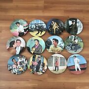 🔥bradford Exchange Elvis Collection Plates Looking At A Legend Set Of 12🔥