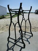 Treadle Sewing Machine Cast Iron Base Industrial Age Table Singer Steampunk Kj