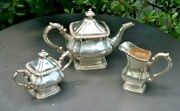 Vintage Chinese Export Sterling Teh Ling Silver Tea Set Teapot Asian 63oz Rare