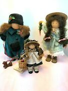 Vintage Lizzie High Collectible Wooden Dolls - Lot Of 3 - 1992 1994