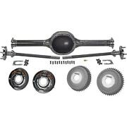 Ford 9 Inch Rearend Axle Housing Kit With Buick Finned Drums, 54
