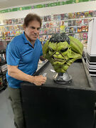 Incredible Hulk Life Size Bust Sideshow Collectables Signed By Lou Ferrigno