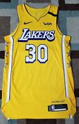 Lakers Team Issued Troy Daniels Authentic Pro Cut Jersey City Edition Lord Nike